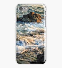 wave rolls onto the rocky coast iPhone Case/Skin