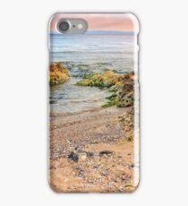 sea waves running on sandy beach iPhone Case/Skin