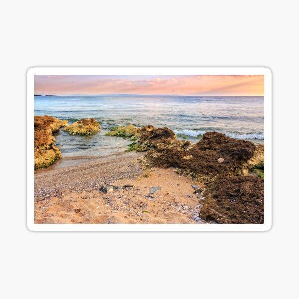 sea waves running on sandy beach Sticker
