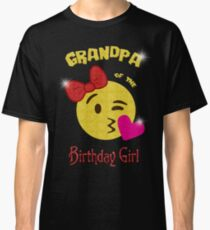 Grandpa of the Birthday Girl Emoji Birthday Party Classic T-Shirt