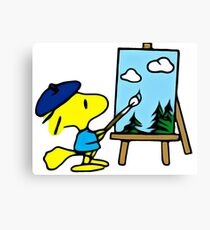 Woodstock, Snoopy, Peanuts, Art, Cute  Canvas Print