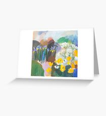 Orangetips and Irises Greeting Card