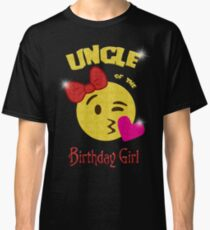Uncle of the Birthday Girl Emoji Birthday Party Classic T-Shirt