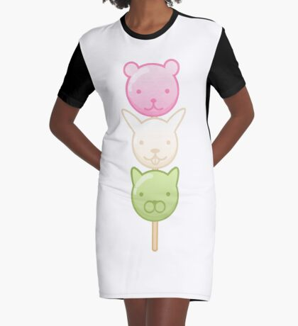 Cute Dango Graphic T-Shirt Dress