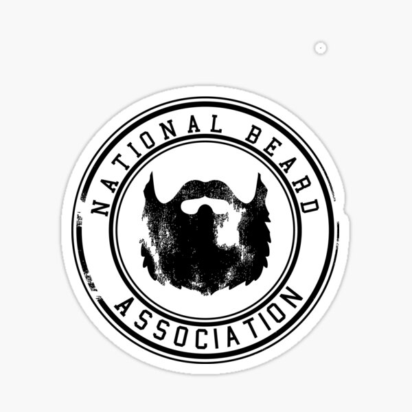 National Beard Association Icon vintage Sticker