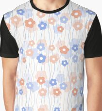Simple kids floral pattern. Cute seamless background.  Graphic T-Shirt