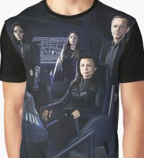 Agents Johnson, Rodriguez, May, Coulson of S.H.I.E.L.D Graphic T-Shirt