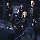 Agents Johnson, Rodriguez, May, Coulson of S.H.I.E.L.D by lorelei84
