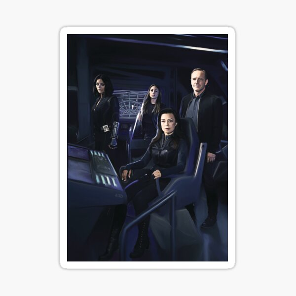 Agents Johnson, Rodriguez, May, Coulson Sticker