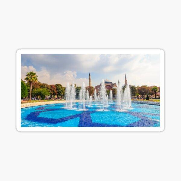 Fontain near Sophia basilica museum in Istanbul Sticker
