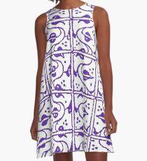 Leaf and Vines Purple A-Line Dress