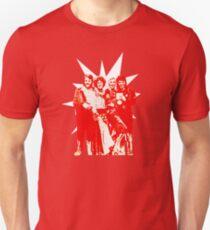Björn & Benny, Agnetha & Anni-Frid - Red Ink Eurov. 1974 design Unisex T-Shirt