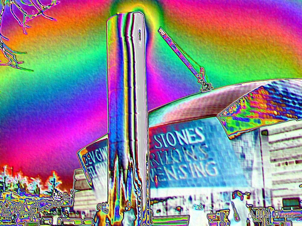 Millenium centre in foil by Deborah Wilkins