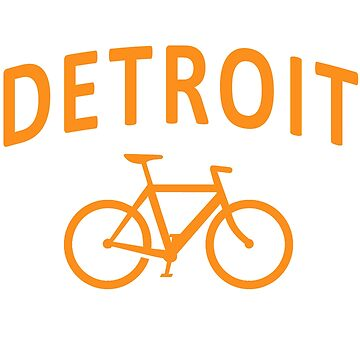 I Bike Detroit by robotface