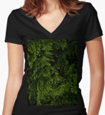 Small leaves.  Women's Fitted V-Neck T-Shirt