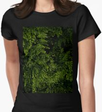 Small leaves.  Womens Fitted T-Shirt