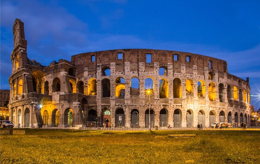 colosseum night by moppics