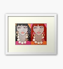 Aloha from the Jezzabelle twins Framed Print