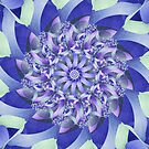 Ever Expanding Mandala in Purple, Blue and Mint Green by Kelly Dietrich