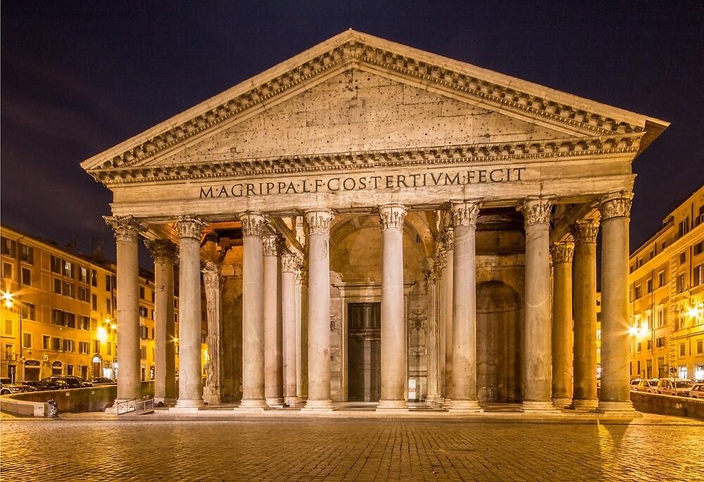 Pantheon at night by moppics