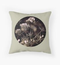Cow Parsley, wild flower Throw Pillow