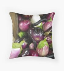 All the Eggplants Throw Pillow