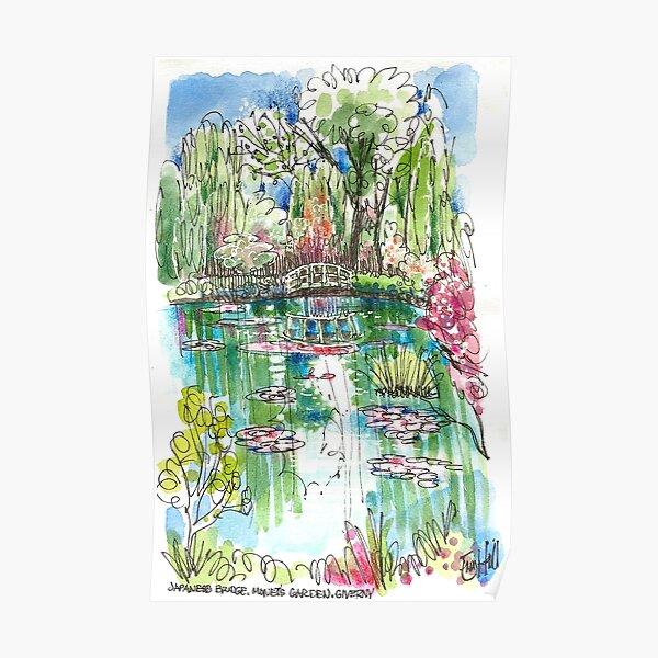 The Japanese Bridge at Monet's garden Poster