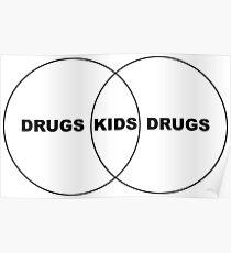 Kids/Drugs Venn Diagram Poster