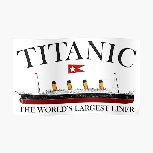 Titanic. 1912, RMS Titanic, Cruise, Ship, Disaster. Poster