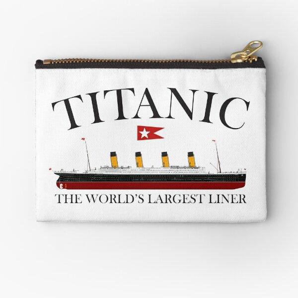 Titanic. 1912, RMS Titanic, Cruise, Ship, Disaster. Zipper Pouch