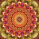 Dreaming in Color Mandala in Green, Pink, Orange, Yellow, and Brown by Kelly Dietrich