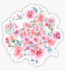 Bouquet of RED rose - wreath Sticker