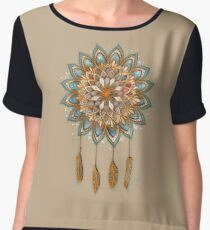 Golden Dreams Dreamcatcher Chiffon Top