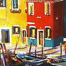 Burano sunrise  reflections by Anartist