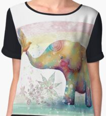 The Indigo Elephant Women's Chiffon Top