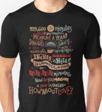 How Do You Measure a Year? T-Shirt