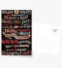 Wie messen Sie ein Jahr? Postkarten