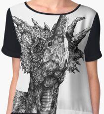 Styracosaurus portrait Chiffon Top