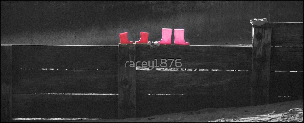 Pink boots by racey1876