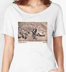 TOUR de FRANCE: Vintage 1952 Fausto Coppi Advertising Print Women's Relaxed Fit T-Shirt