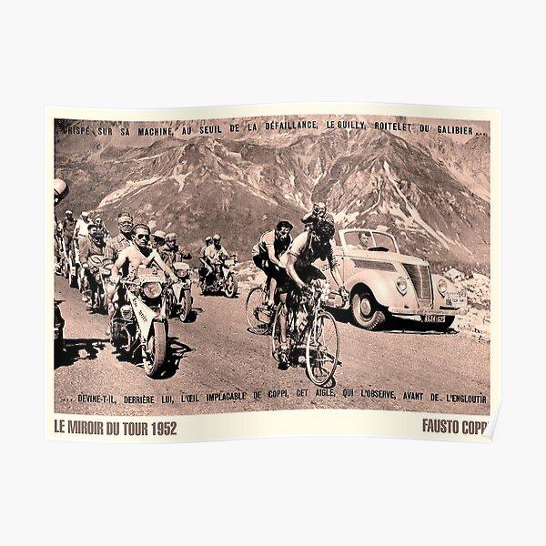 TOUR de FRANCE: Vintage 1952 Fausto Coppi Publicité Print Poster