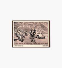 TOUR de FRANCE: Vintage 1952 Fausto Coppi Advertising Print Art Board