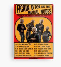The Cantina Band Tour Poster Metal Print
