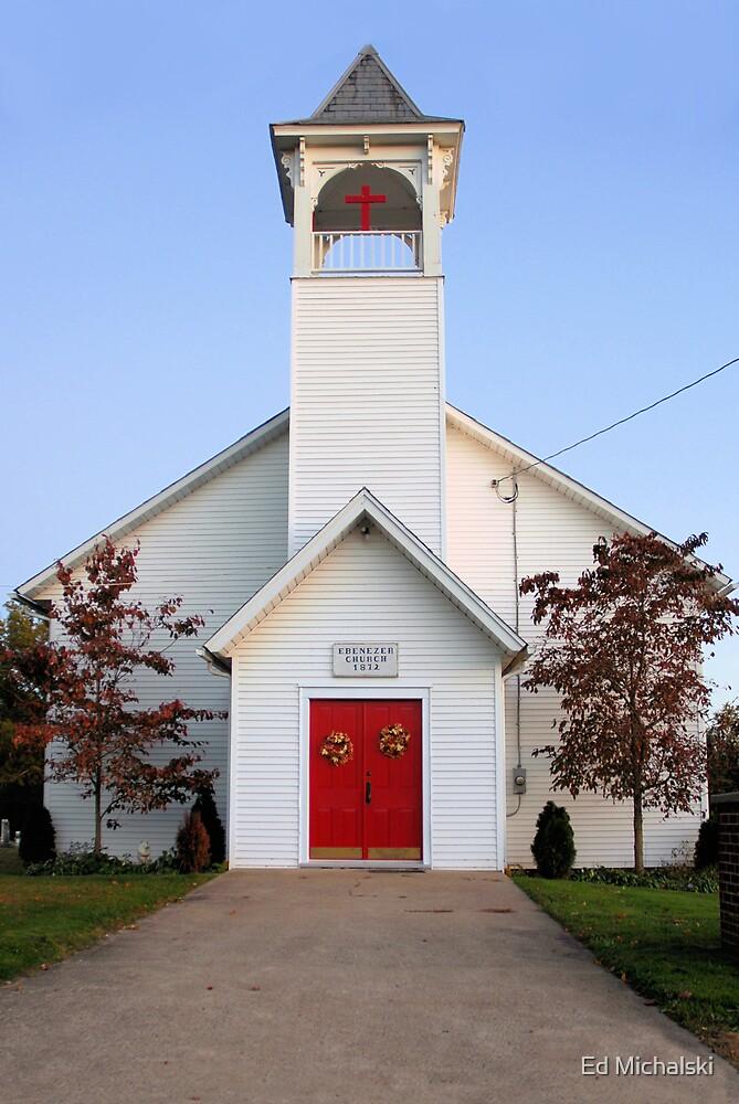 Ebenezer church 1872 by Ed Michalski