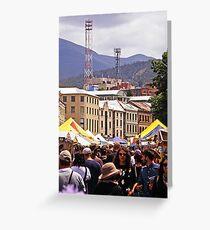 Salamanca Market—Hobart, Tasmania Greeting Card