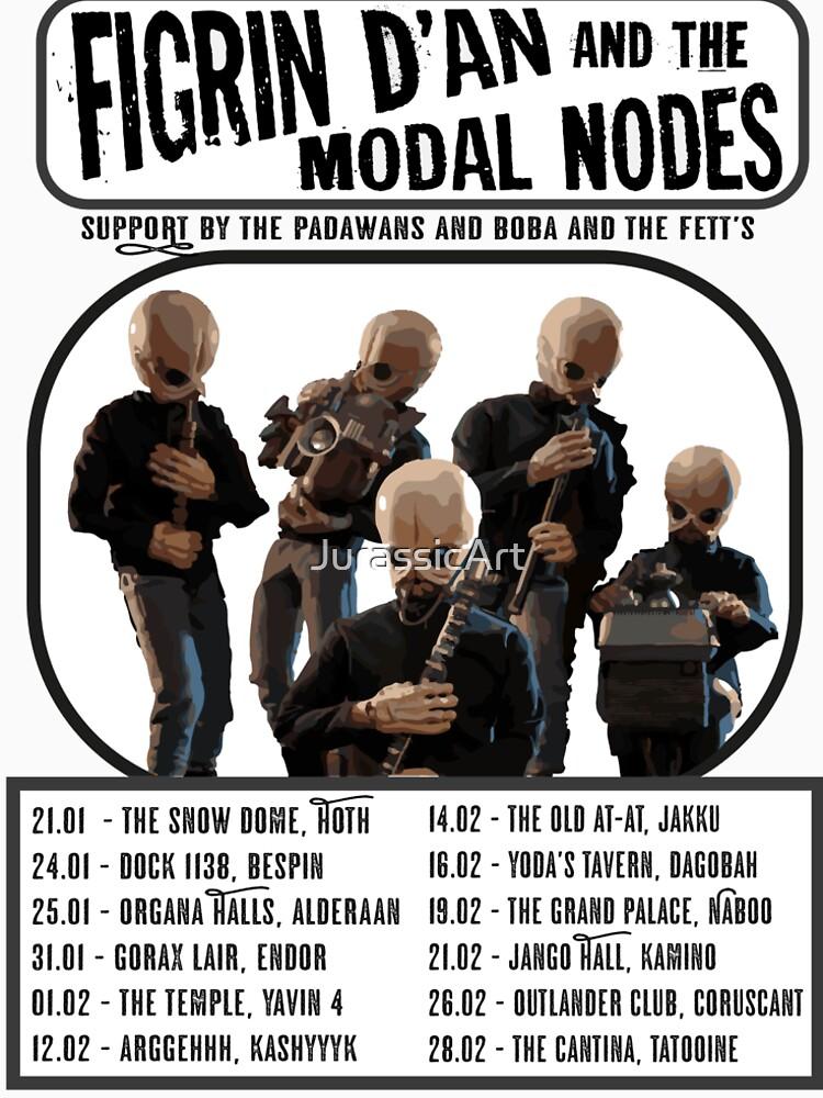 Cantina Band Tour Poster (Schwarz & Weiß) von JurassicArt