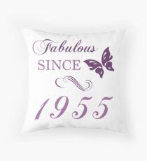 1955 Fabulous Birthday Throw Pillow