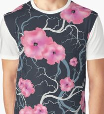 Vintage seamless pattern bloom flowers Graphic T-Shirt