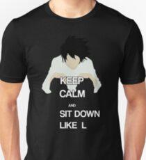 L Death Note t-shirt Unisex T-Shirt