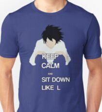 L Death Note t-shirt T-Shirt
